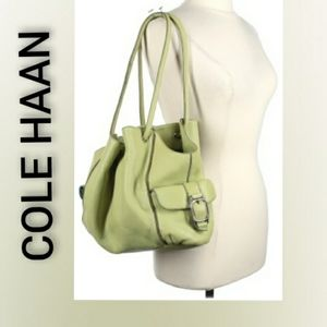Cole Haan Lime and Blue Inside Leather Bag